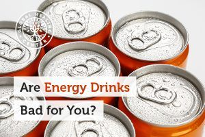 A table full of energy drinks. Discover why are energy drinks bad for you.