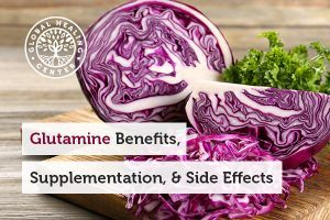 Vegetables, like red cabbage, provide all of the benefits of glutamine.