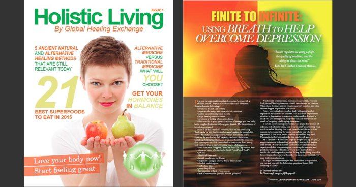 Holistic Living Magazine - Overcoming Depression