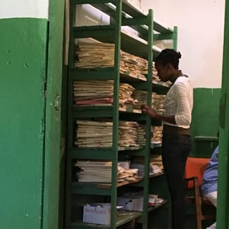 Haiti Medical Records area. Global Health Teams - Haiti Medical Volunteer