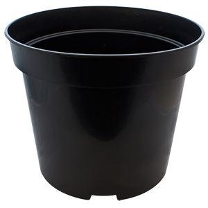 round black 20l pot