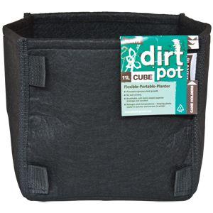 square base dirt pot 11l