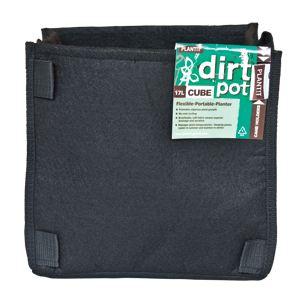 square base dirt pot 17l