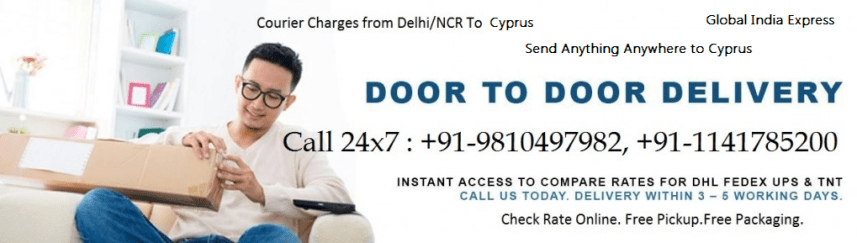 Courier Charges from delhi to cyprus cheap parcel delivery to cyprus