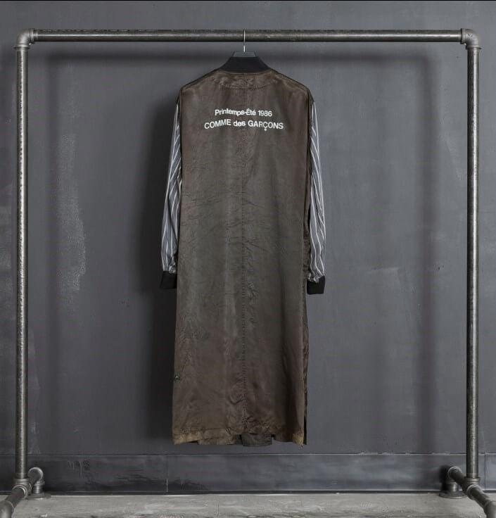 Original show robe gifted to Irene Silvagni, Comme des Garçons S/S86,