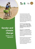 Gender and climate change: Evidence and experience
