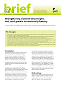 Strengthening women's tenure rights and participation in community forestry