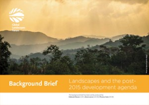Background Brief – Landscapes and the post- 2015 development agenda