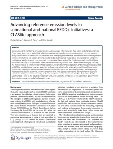 Advancing reference emission levels in subnational and national REDD+ initiatives