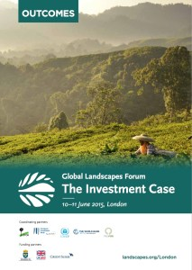 Global Landscapes Forum: The Investment Case — Outcomes