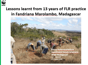 Lessons learnt from 13 years of practice in Fandriana Marolambo, Madagascar