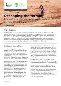Reshaping the terrain: Forest and landscape restoration in Burkina Faso