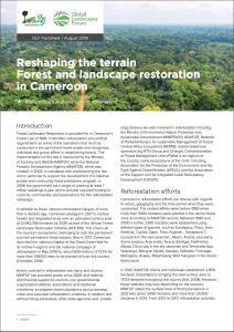 Reshaping the terrain Forest and landscape restoration in Cameroon