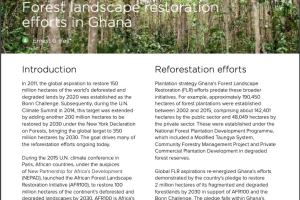 Reshaping the terrain: Forest landscape restoration efforts in Ghana