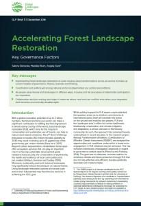 Accelerating Forest Landscape Restoration