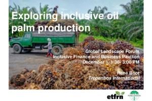 Exploring inclusive oil palm production