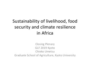 Sustainability of livelihood, food security and climate resilience in Africa