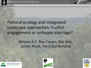 Political ecology and integrated landscape approaches: fruitful engagement or unhappy marriage