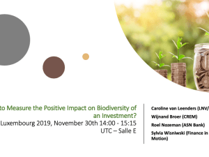 How to Measure the Positive Impact on Biodiversity of an Investment?