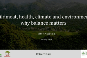 Wildmeat, health, climate and environment: why balance matters