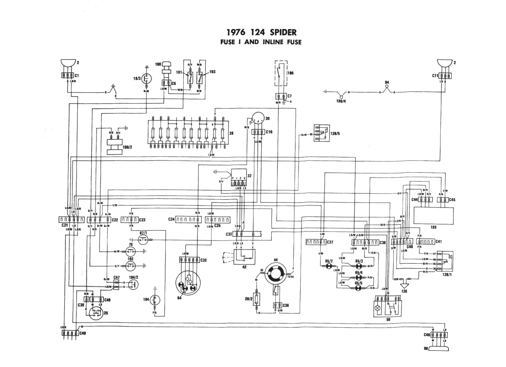 Fiat 128 Wiring Diagram