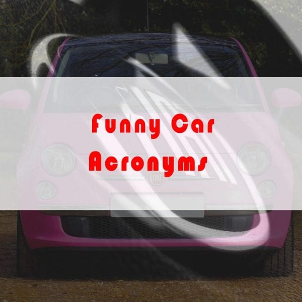 Funny Car Acronyms