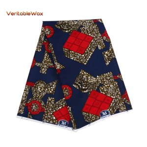 100% Polyester Wax Prints Fabric for sewing