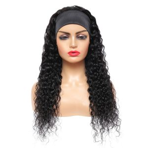 1pc Black African Curly Wig Headgear With Fluffy Head