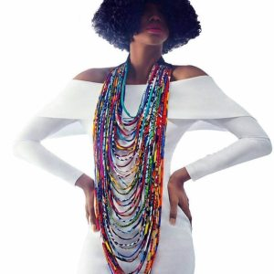 Print Choker Necklaces for Women Body Jewelry African Cotton
