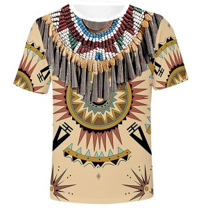 ethnic Style V Neck Male Tops African Dashiki T-shirts Hombre