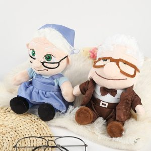 20CM the Movie UP Carl Grandfather Grandmother Cartoon Stuffed Soft Plush Toy For Kids Gifts