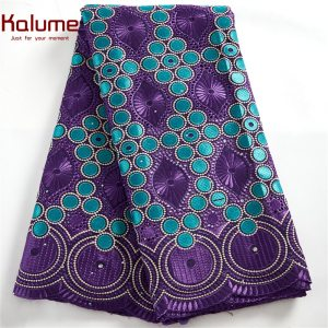African Lace Fabric Onion Color Lowest Price Swiss Voile Lace In Switzerland High Quality Nigerian Embroidered Lace Fabric F1468
