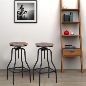 Stool Natural Pinewood Top Kitchen Dining Breakfast Chair Stool