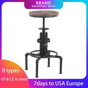 Home Dining Chair Pipe Barstool Footrest