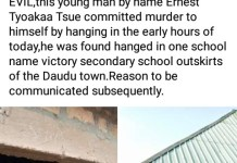 A Man Commits Suicide In the examination hall of Victory International College Benue State