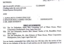 Court Orders Tinubu To Appear Within 42 Days Over Alpha Beta Fraud