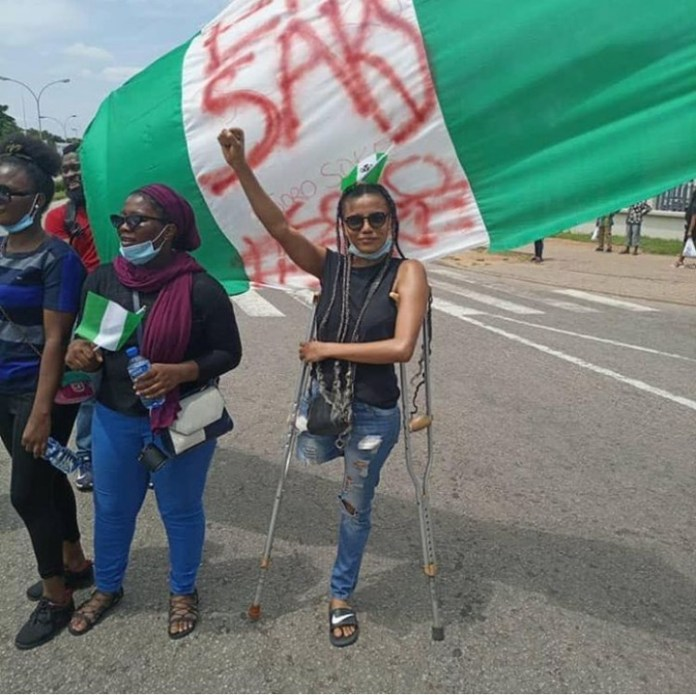 EndSARS Protesters Raises Funds To Buy A Protester Jane Prosthetic Leg