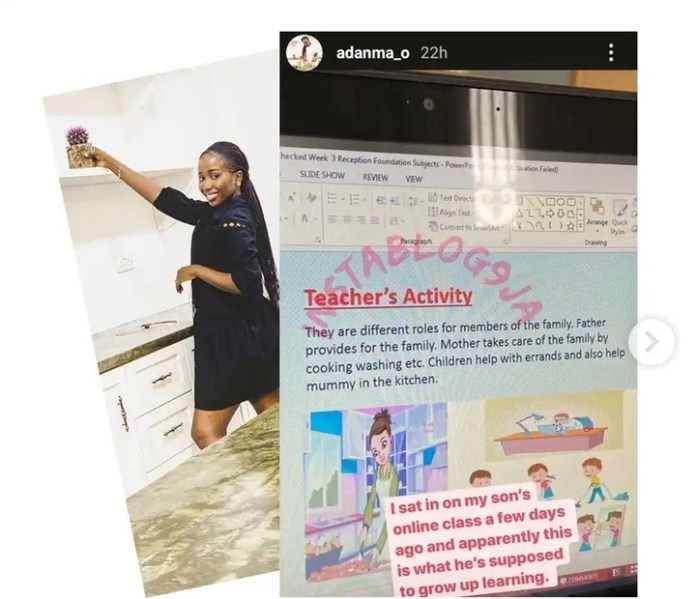 Ex Imo Governor Ohakim's Daughter Adanma Ohakim Calls Out Son's Teacher Over Gender Role