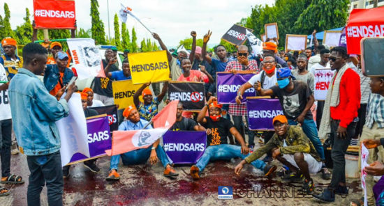 Force Headquarters In Abuja Shut Down By EndSARS Protesters, Demanding To See IGP