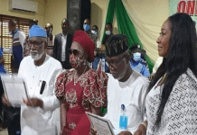 Governor Rotimi Akeredolu And His Deputy Lucky Ayedatiwa Get Certificate Of Return