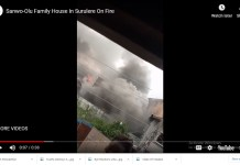 video of Governor sanwo olu family house on fire