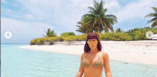 Kim Kardashian shares new bikini photos saying This is 40