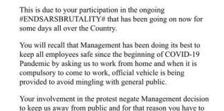 MBH Power Suspends Staff For Participating In EndSARS Protest