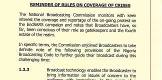 National Broadcasting Corporation Tells Media Houses-Don't Embarrass Government With Your EndSARS Reports