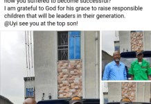 Nigerian Man Felix Obazee Employs His Son Uyiogosa As Security Man In His Company