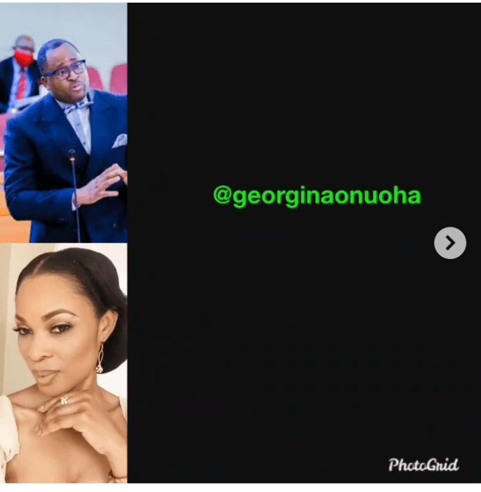 Nollywood Actress Georgina Onuoha Blasts Desmond Elliot-Your Wife Fed You In Those Days And You've Forgotten