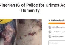 Over 24,000 Nigerian citizens Sign Petition To Arrest IGP Adamu