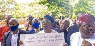 Oyo State Deputy Governor Rauf Olaniyan Joins EndSARS Protest Says He Was A Victim Twice