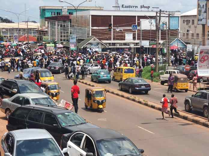 Thousands Of EndSARS Protesters Hit Enugu