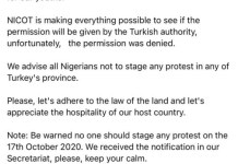 Turkish Government Deny Nigerians Permission For Protest